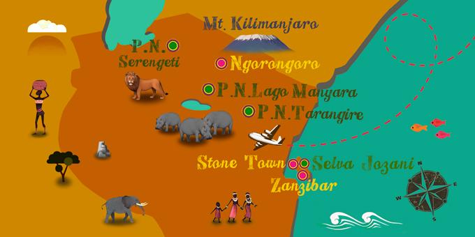 Tansania - Karte