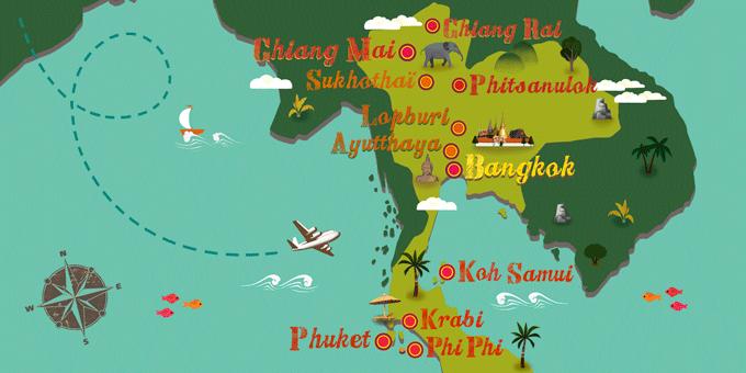 Thailand - Karte