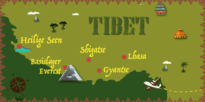 Tibet - Karte