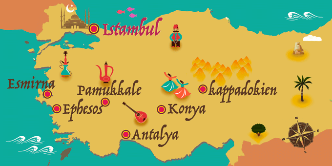 Türkei - Karte