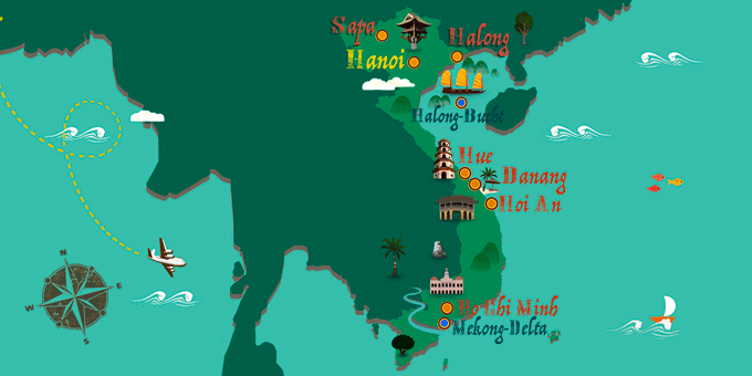 Vietnam - Karte