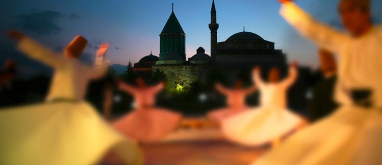 Zeremonie des Gedenkens des Mevlana in Konya