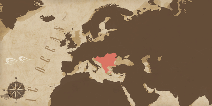 Der Balkan - Karte