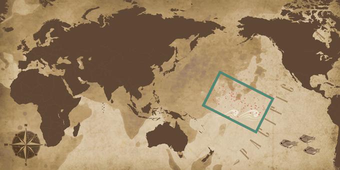 Inseln des Pazifiks - Karte