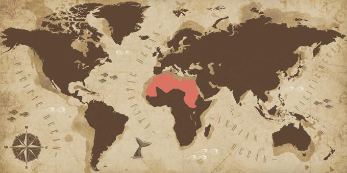 Nordafrika - Karte