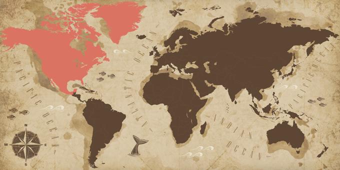Nordamerika - Karte