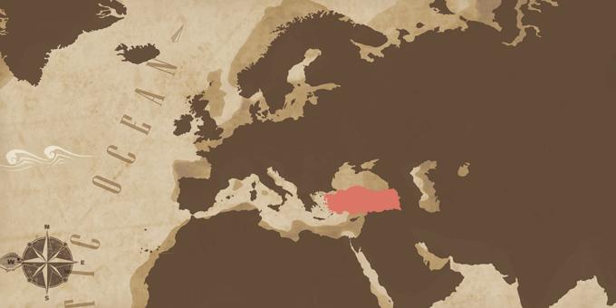 Östliches Mittelmeer - Karte