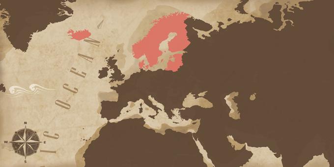 Skandinavien und die Ostsee - Karte