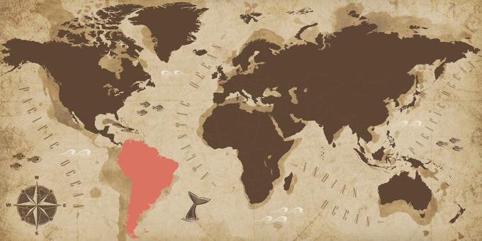 Südamerika - Karte