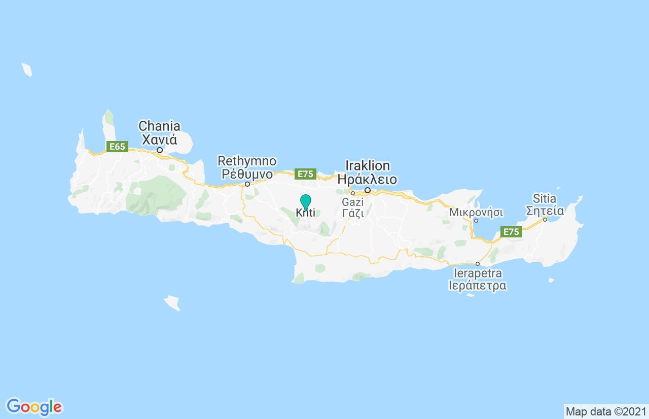 Karte mit Reiseroute in Griechenland